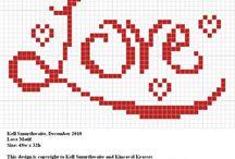 Cross Stitch -- Hearts & Love