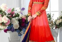Festive Special Anarkali Dresses / This Festive Season, turn all heads on you with our brand new collection of special embroidered anarkali dresses perfect for festivals. Pick your's now from http://www.mishreesaree.com/Online/New-Arrivals/Latest-Salwar-Kameez