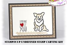 Stampin' Up! - Undefined Carved Stamps / stamps carved with the Stampin Up Undefined Carving kits / by Sandi MacIver  - Stampin Up