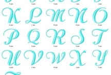 Embroidery Fonts / by Amy Stull