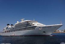 Peace Boat, Portuscale Cruises, Regent Seven Seas Cruises & Seabourn στον Πειραιά.