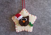 TinyFeltHeart: My CHRISTMAS creations / My felt creations for Christmas: ornaments, bookmarks and planner clips.