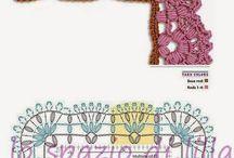 schemi di bordi crochet con angoli