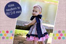 Baby Girl Tops PDF Sewing Patterns