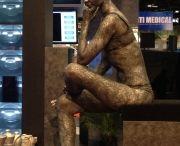 Medical Show Chicago- Female Thinker Statue model handpainted