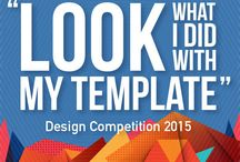 """2015 """"Look What I Did With My Template"""" Contest / Customer submissions and winners from our 2015 design contest!"""