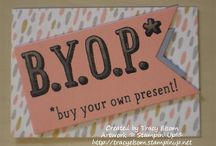 Stampin' Up! B.Y.O.P. / Card, projects, and ideas using the B.Y.O.P. Stampin' Up! stamp set and coordinating Gift Card Envelope Thinlit dies.