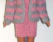 Doll clothes. Crochet & knitting.