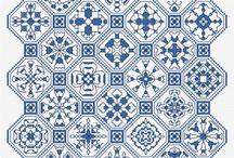 blackwork obraz blue