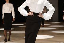 Pablo Ramírez Invierno 2014 / La camisa blanca, el trench, la capa, el vestidito negro como el uniforme que compone a la elegancia como valor asistido por el chic y la sofisticación. Aquí intervenido por PABLO RAMÍREZ en el marco de los desfiles #DesignersLookBA