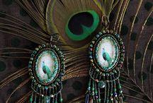 Piaf design - earrings / Handmade earrings made of Czech glass.