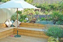 Flower beds - built in bench