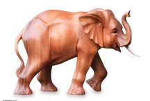 Carving - elephants