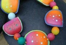 Polymer, clay, fimo smykker