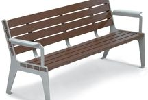 Recycled Plastic Benches / Recycled Plastic Benches offer a stylish, natural look with superior durability and sustainability that's also safer for the environment with many benches made from 95% recycled materials.
