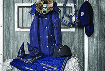 Colour board from Autumn/ Winter 2015 / Beautiful hues of blue this season for you, your horse and even your dog!