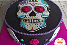 Tartas de calaveritas (skull cakes)