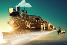 live train