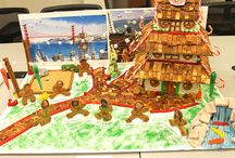 2nd Annual Boudin HQ Gingerbread House Contest / For the second year, each department at Boudin Headquarters was given a gingerbread house to decorate. As you can see, the bar was raised again! Time to start planning for 2015... Which house is YOUR favorite?