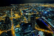Melbourne at Night / Melbourne, as the city lights up!