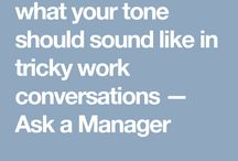 Career/Work Tips