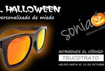 HALLOWEEN & SONIAPEW /  Descuentos de MIEDO en tus gafas de sol polarizadas de madera de #bambu #personalizadas por ti entra en wwwsoniapew.es