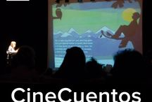 CineCuentos / Si os gusta la combinación de nuevas tecnologías y narración oral os proponemos un nuevo recurso de animación a la lectura: los CineCuentos Pintar-Pintar. ¿En qué consiste un CineCuento Pintar-Pintar? En la proyección y lectura de las versiones digitales interactivas de nuestros títulos: las ilustraciones de nuestros libros en movimiento junto a la palabra en directo ¡todo un espectáculo divertido e interactivo!  / by Pintar-Pintar Editorial