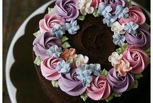 торты с цветами
