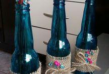decoração com garrafas