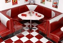 Diner cafe. / A fun 1950's inspired Diner. Please pin to your hearts content.