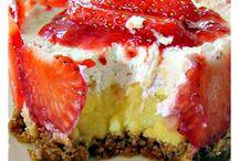 Dessert og frukt.