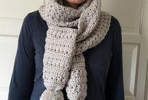 EASY Crochet Scarf Pattern for Women, Easy Crochet Scarf Pattern with Pom Poms, Easy Crochet Pattern