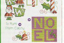 Punto croce Natale / Raccolta di schemi a tema natalizio
