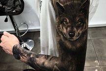 wolfskopf tattoo
