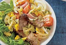 Pasta Salads / Great for summer, potluck, or your lunch box.....why not make your own using great meat instead of turning to the boxed variety?  They're SO much better!