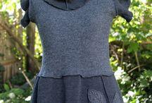 recykl-oděvy (halenky, kabátky, kalhoty ...)