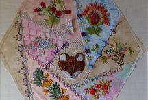 2015 Hexagon Crazy Quilt / I'm working on a crazy quilt...some blocks will be my 12 entries for the Crazy Quilt Journal Project at cqjp2015.blogspot.com but the entire quilt will be a set of 23 blocks. I'll post the block and some closeup photos as each is finished.