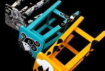sillas pintadas