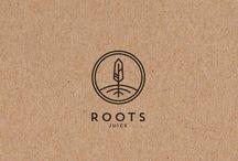 Simple line emblem logo