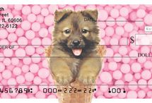Puppies / Puppy-themed personal checks, stationery, and gift merchandise.