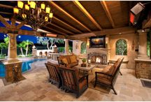 TV placement Outdoor Fireplaces