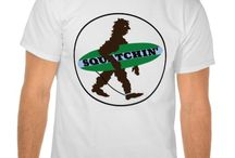 Sasquatch / t-shirts on the theme of gome squatchin'