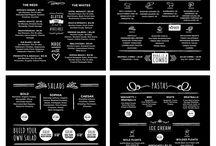 Food & Design / 음식 관련 플레이팅 및 컨셉 사진, 메뉴 디자인, 그림 등등