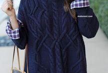свитер с аранами