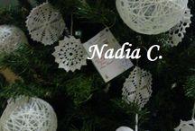 A Natale palle, cuori e alberelli ... / Palle di lana, cuori si stoffa e .......