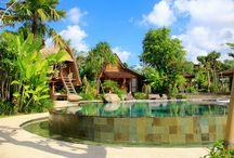 Kampung Joglo Villa / Tropical garden design at Kampung Joglo Villa, Bali