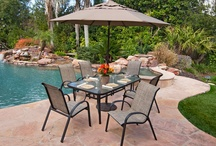 Outdoor Dining Sets / Low maintenance, rustproof outdoor dining Step Into YOUR Outdoors!   All rustproof, powder coated aluminum frames / by Chair King Backyard Store
