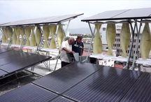 Sistemas híbridos renovables / Instalaciones de energía renovable que emplean métodos de producción híbridos, generalmente aplicados sobre la arquitectura.