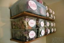 paper flowers storage ideas