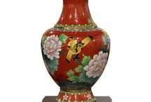 Chinese Jars and Vases / A collection of unique ceramic hand painted Chinese jars and vases.